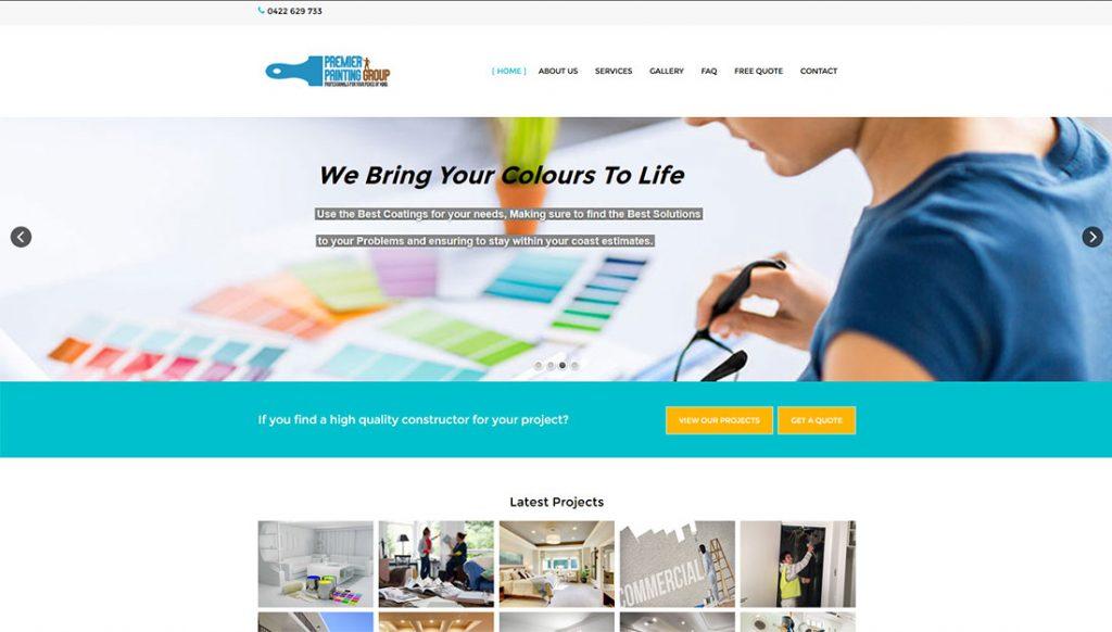Premier-Painting-Group-Website-Design