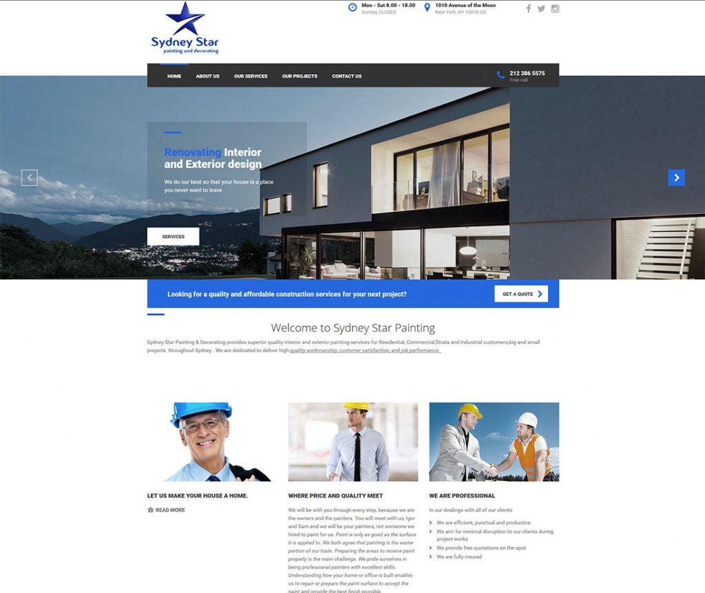 Sydney-Star-Painting-Website-Design